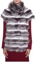 Tory Burch Sleeveless Fur Coat