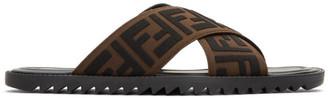 Fendi Black and Brown Forever Slides