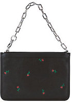 Alexander Wang Attica Floral Embossed Chain Strap Leather Bag