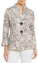 IC Collection Two Button Front Floral Jacket