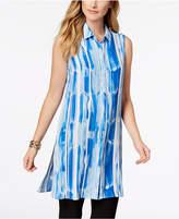 Alfani Printed Tunic Shirt, Created for Macy's