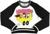 Moschino Printed Cropped Cotton Sweatshirt