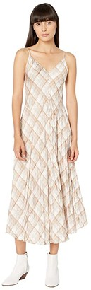 Vince Hazy Plaid Cami Dress (Sun Taupe) Women's Dress