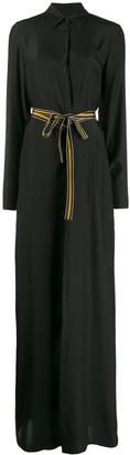 A.F.Vandevorst Tie-Waist Maxi Shirt Dress