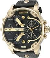 Diesel Men's DZ7371 Mini Daddy Gold Leather Watch