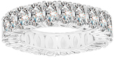 Bliss Sterling Silver & Cubic Zirconia Oval Eternity Ring