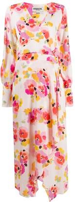 Essentiel Antwerp Floral Print Wrap Dress