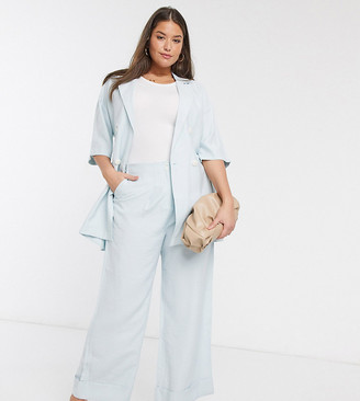 Native Youth Plus relaxed wide leg tailored trousers co-ord