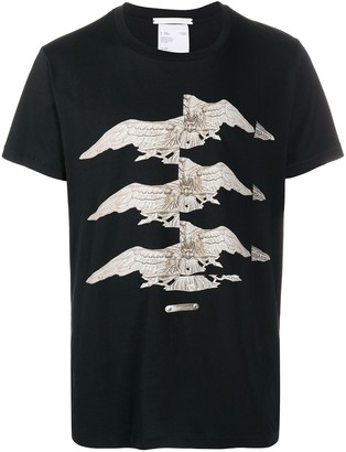 Helmut Lang split print T-shirt