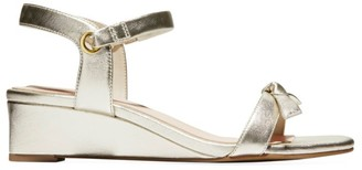 Cole Haan Halsey Metallic Leather Wedge Sandals