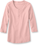 L.L. Bean Beans Tee, Three-Quarter-Sleeve Henley