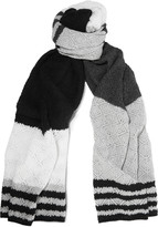 Magaschoni Striped open-knit cashmere scarf