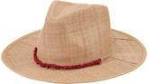 San Diego Hat Company Women's Fedoras NATURAL/CORAL - Natural & Coral Raffia Panama Hat
