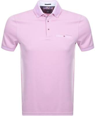 Ted Baker Frog Polo T Shirt Pink