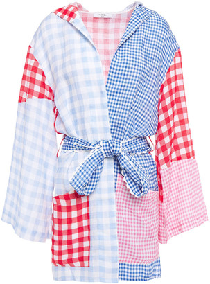 Marysia Swim Patchwork-effect Gingham Linen Coverup