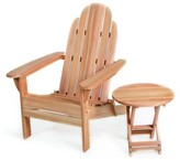 Adirondack Ardoin Chair with Table Union Rustic