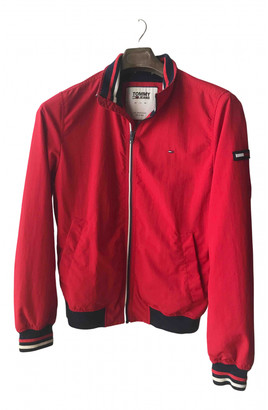 Tommy Jeans Red Synthetic Jackets