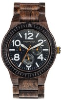 WeWood Men's Kardo Multifunctional Wood Bracelet Watch, 46Mm