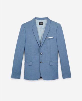 The Kooples Fitted formal light blue jacket in wool