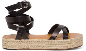 Isabel Marant Melyz Sandals In Black Leather