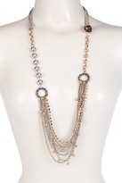 Betsey Johnson Multi Chain Imitation Pearl & Rhinestone Statement Necklace