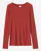 Toast Fine Wool Tencel Long Sleeve Tee