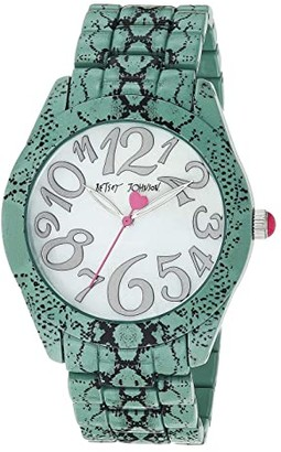 Betsey Johnson Slithering Around Watch (Snake/Silver) Watches