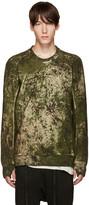 11 By Boris Bidjan Saberi Green Camo Pullover