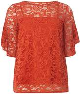 Dorothy Perkins Orange Lace Ruffle T-Shirt