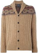 Howick Dakota Fairisle Shawl Neck Jumper