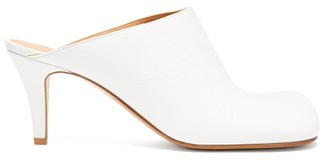 Bottega Veneta Square-toe Leather Mules - White