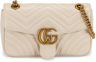 Gucci GG Marmont 2.0 Shoulder Bag in White | FWRD