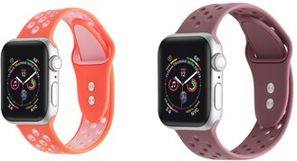 Posh Tech Apple Watch Breathable Silicone Replacement Band - Pack of 2