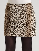 Milly Faux-Cheetah Skirt