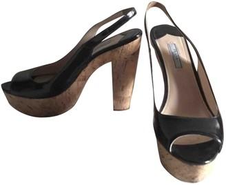 Prada Black Patent leather Heels