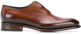 Santoni Lace-Up Patent Brogues