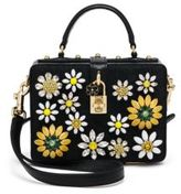 Dolce & Gabbana Embellished Jacquard & Lizard-Embossed Leather Top-Handle Bag