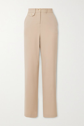 ANNA QUAN - Roxy Twill Straight-leg Pants - Sand