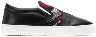 Marcelo Burlon County of Milan embroidered slip-on sneakers