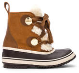 Chloé x Sorel Shearling & Suede Hiking Boots