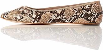 Find. Amazon Brand Women's Ballet Flat Brown Snake) US 5