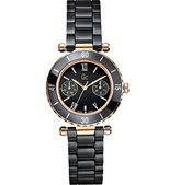 Gc Guess Collection Diver Chic I42004L2S 34 Stainless Steel Case Ceramic Anti-Reflective Sapphire Women's Quartz Watch