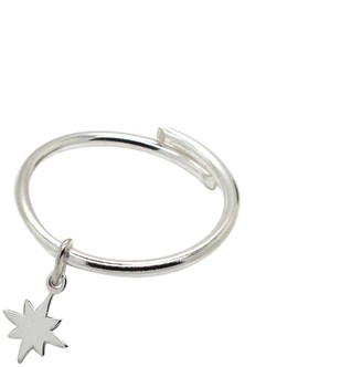 Lucy Ashton Jewellery Fallen Star Adjustable Ring Sterling Silver