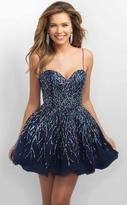 Blush Lingerie Sequined Sweetheart A-Line Dress 11182