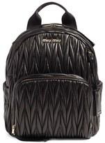 Miu Miu Matelasse Nappa Leather Backpack - Black