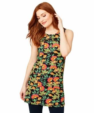 Joe Browns Women's Bright Florals Sleeveless Summer Tunic Shirt