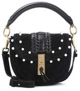 Altuzarra Ghianda Mini embellished suede shoulder bag