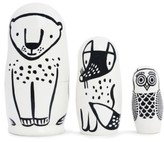 Wee Gallery Toddler Set Of 3 Animal Nesting Dolls