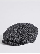 M&S Collection Pure Wool Baker Boy Hat