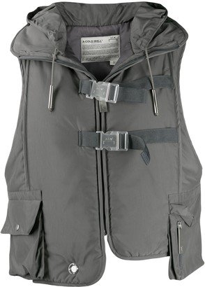 A-Cold-Wall* cropped hooded gilet